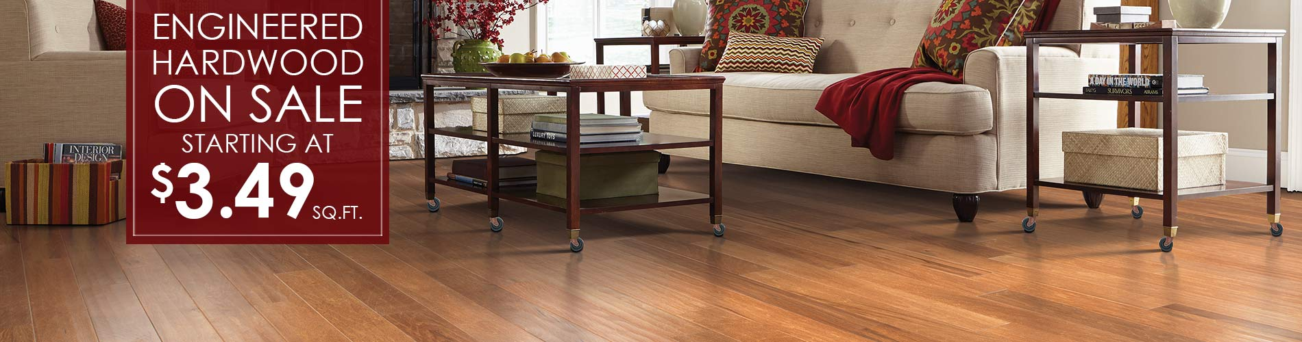 Engineered hardwood on sale starting at $3.49 sq.ft.